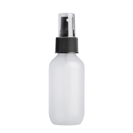 100ml Frosted Prem Btl & 24mm Black Ribbed Mist