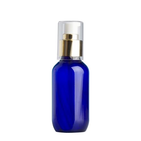 100ml Blue Prem Btl & 24mm Gold Cos Lotion
