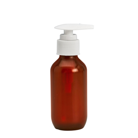 100ml Amber Prem PETG Btl & 24mm White Palm Lotion