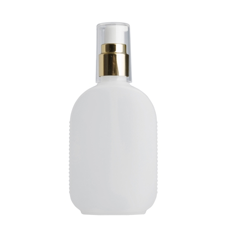 125ml Natural Flask & 20mm Gold/White Cos Lotion