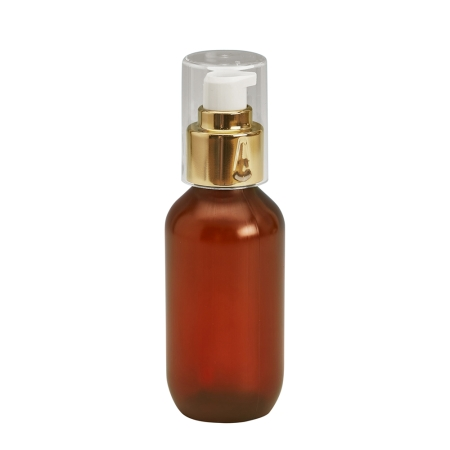 100ml Amber Prem PETG Btl & 24mm Gold Cos Lotion
