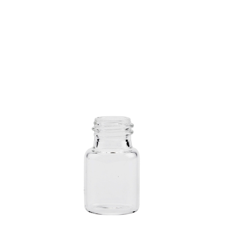 6ml Clear Squat Vial Unfitted (18mm)