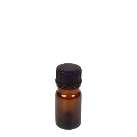 5ml Amber Drip Btl (China) & 18mm Black Foam Wad Cap