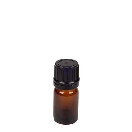 5ml Amber Drip Btl (China) & 18mm Black T/T