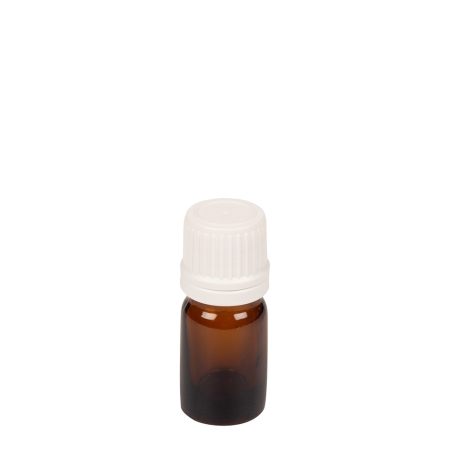 5ml Amber Drip Btl (China) & 18mm White T/T