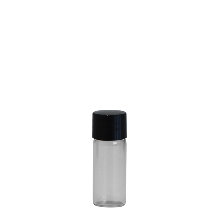 2ml Clear Vial & 11mm Black Wad Cap