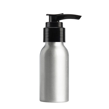 50ml Aluminium Btl & 24mm Black Smooth Lotion
