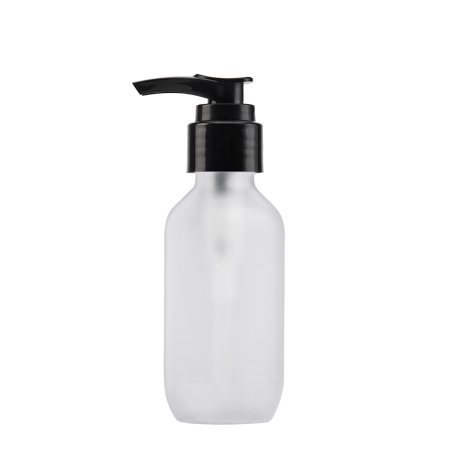 100ml Frosted Prem Btl & 24mm Black Smooth Lotion