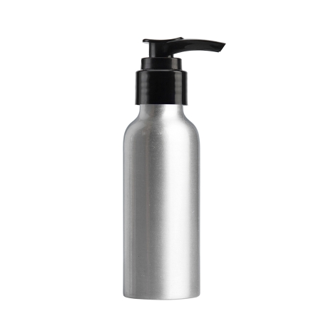 100ml Aluminium Btl & 24mm Black Smooth Lotion