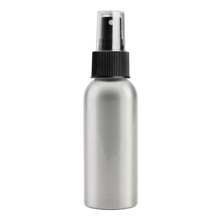 100ml Aluminium Btl & 24mm Black Ribbed Mist