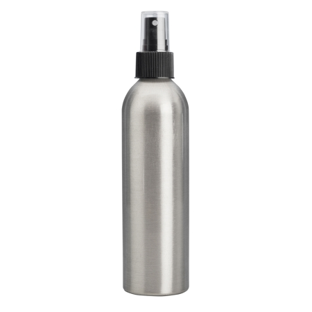 250ml Aluminium Btl & 24mm Black Ribbed Mist