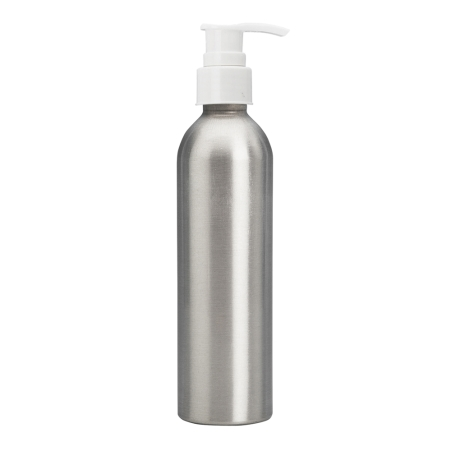 250ml Aluminium Btl & 24mm White Smooth Lotion