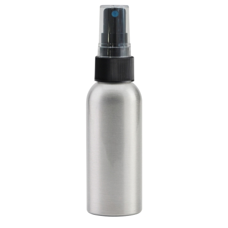 100ml Aluminium Btl & 24mm Black Ribbed Mist(Thick Dip Tube)