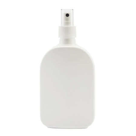 250ml White Flask & 24mm White Ribbed Mist