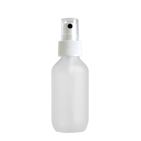 100ml Frosted Prem Btl & 24mm White Ribbed Mist