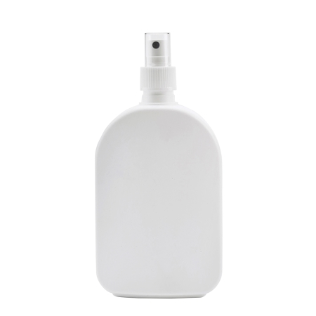 375ml White Flask & 24mm White Ribbed Mist