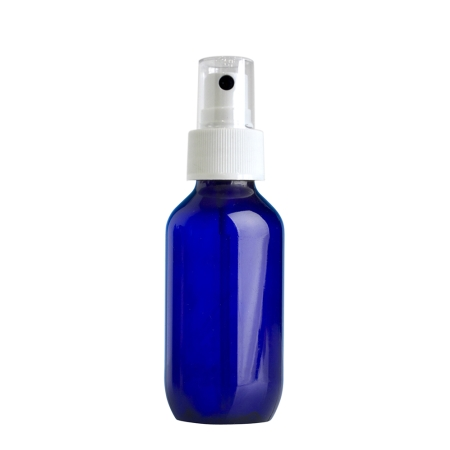 100ml Blue Prem Btl & 24mm White Ribbed Mist