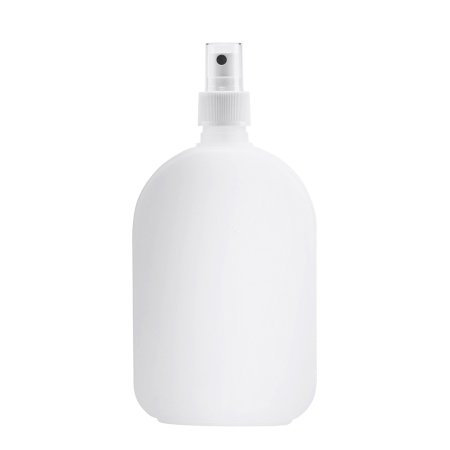 375ml Natural Flask & 24mm White Ribbed Mist
