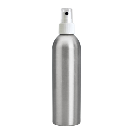 250ml Aluminium Btl & 24mm White Ribbed Mist