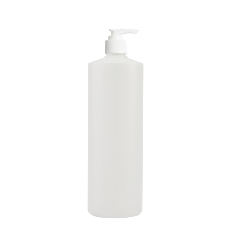 1 Litre Natural Flexicon Btl & 28mm White Ribbed Lotion